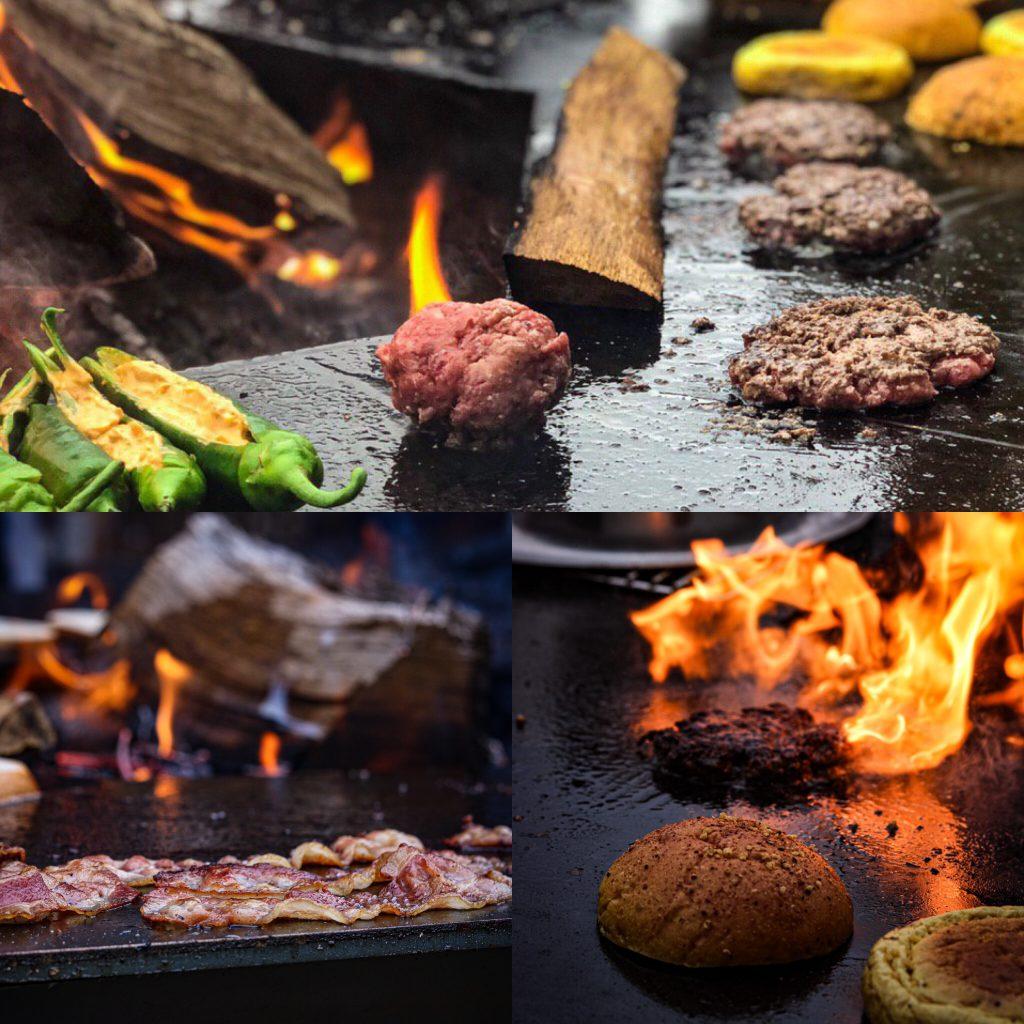 Blogger Event Burger von der Feuerplatte