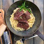 Flap Steak mit Pasta