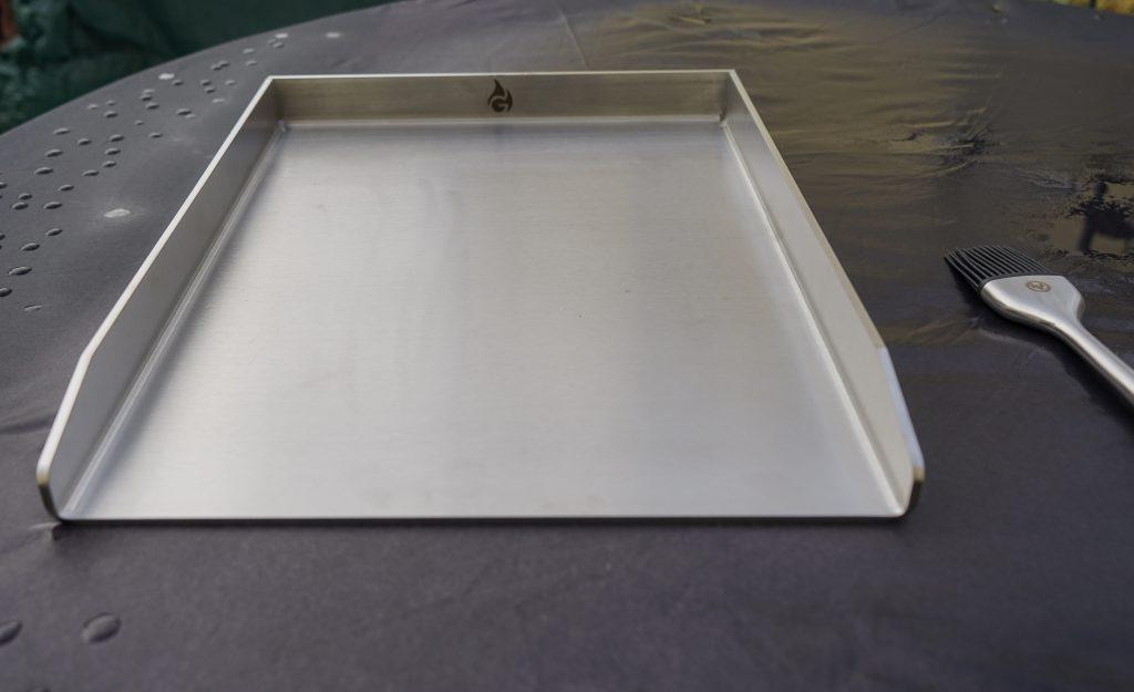 Grillplatte/ Plancha aus Edelstahl im Test