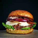 Grilled Peach Burger