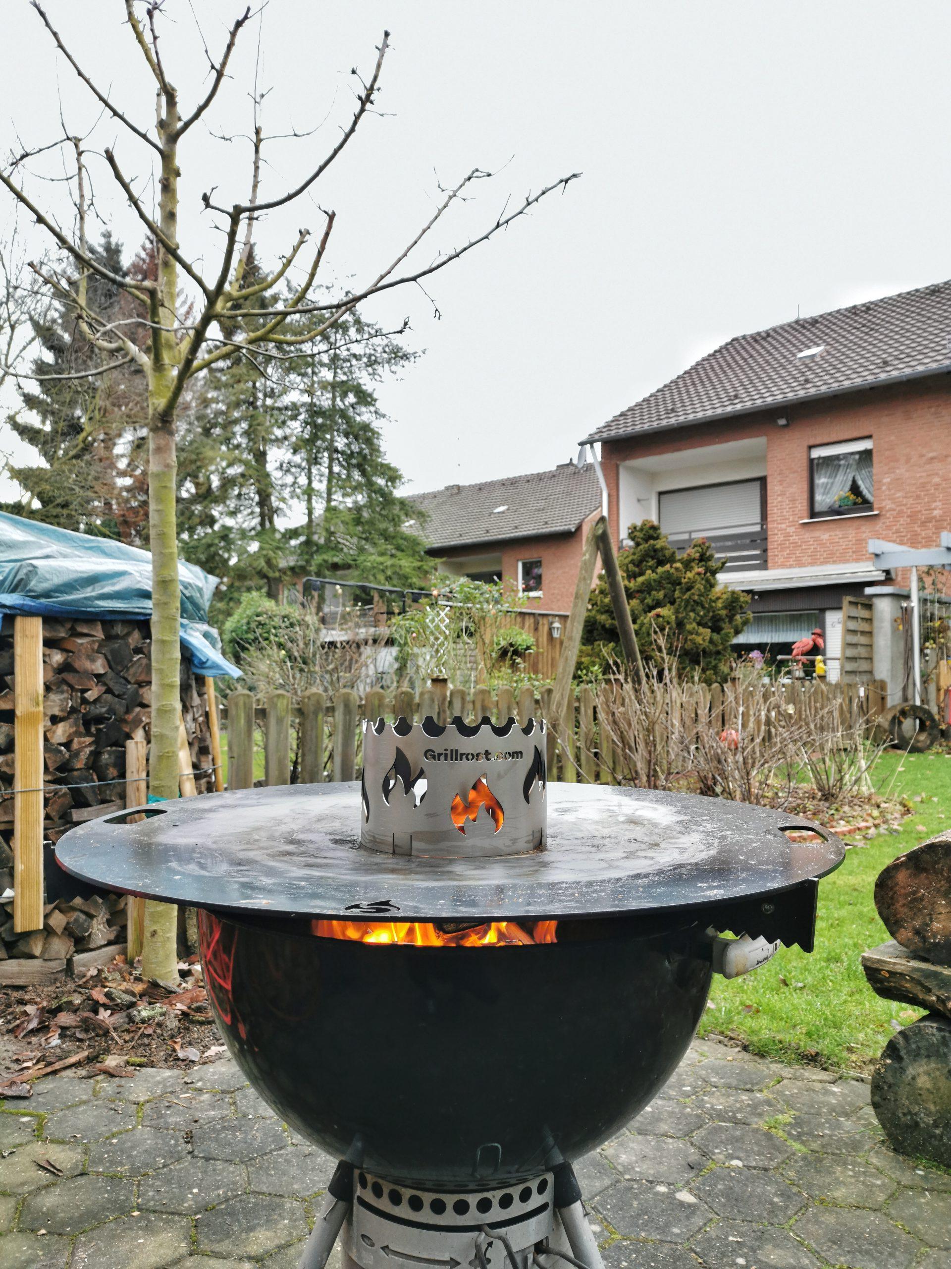 Feuerplatte mit Wokaufsatz