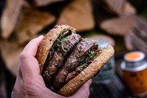 Pilzburger mit Bacon