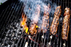 Türkisher Kebab auf dem Grill