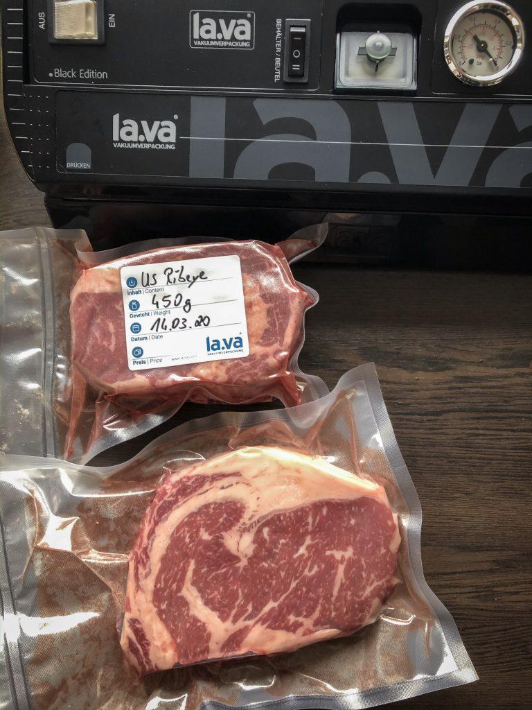 Steaks vakuumieren