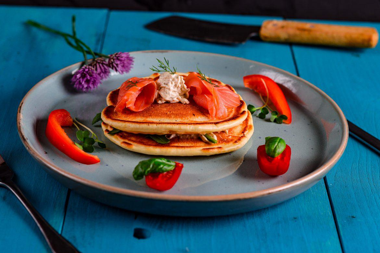 Pancakes mit Lachs