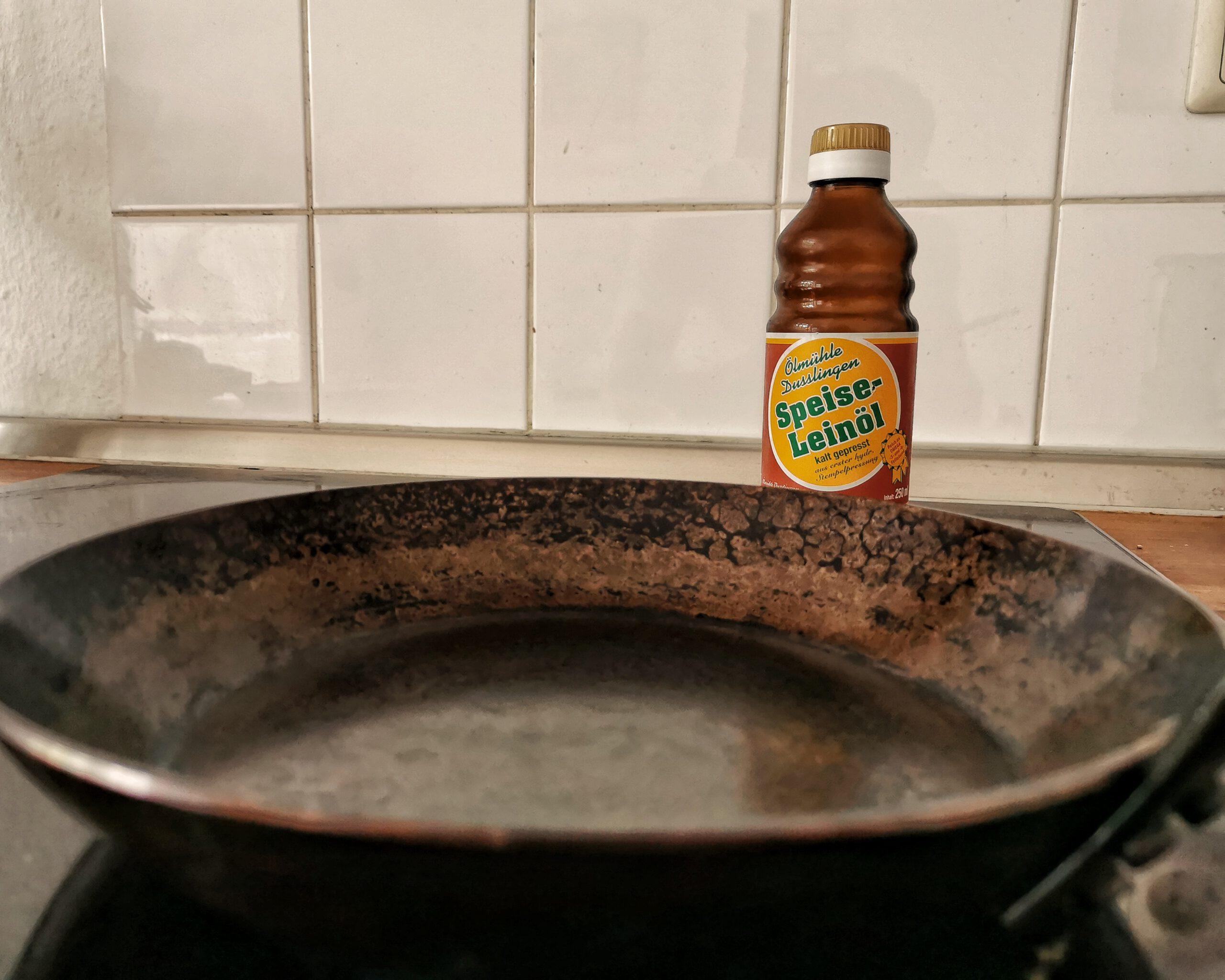 Leinöl zum Einbrennen von Dutch Oven, Eisenpfanne und co.