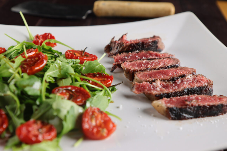 Steak mit Rucolasalat